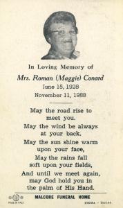 Maggie Conard Memory Card