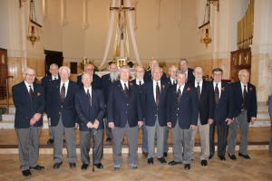 Some of the remaining members of the Boys Choir pose for a photo at St. John's Church