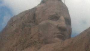 Close Up view of the Crazy Horse monument