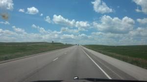 Open roads in South Dakota