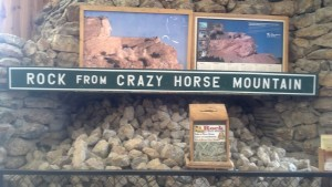 For a small donation, granite rocks from the Crazy Horse Memorial were available for the taking.